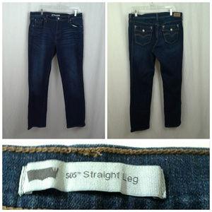 Levis 505 jeans 32x32 Straight leg Medium dark blu